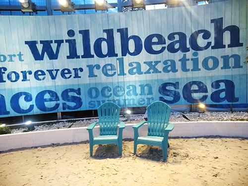 ビアガーデンのビーチ